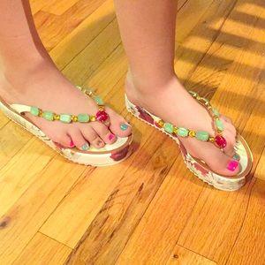 NWOT Dolce & Gabbana Tropical Sandals